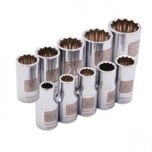 10 Piece 12 Point Standard SAE Socket Set