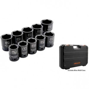 10 Piece 6 Point Standard Impact SAE Set