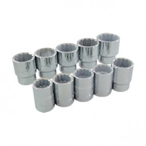 10 Pieces 12 Point Standard SAE Socket Set