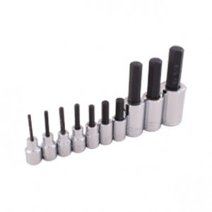 10 Pieces SAE Hex Head Socket Set