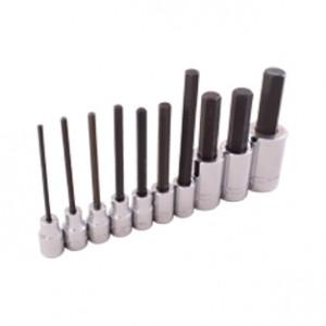 10 Pieces SAE Hex Head Socket Set 3per8 Inch dan  1per2 Inch Drive